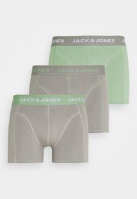 Jack & Jones - JACSTANLEY TRUNKS 3 PACK - Pants - basil/frost grey - 4