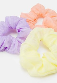 Fire & Glory - SCRUNCHIE 3 PACK - Hårstyling-accessories - purple heather/yellow/coral - 1