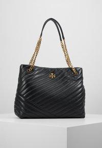 Tory Burch - KIRA CHEVRON TOTE - Handbag - black - 0