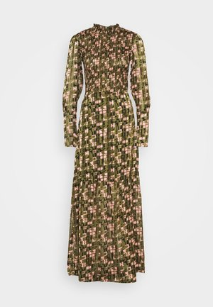 SHEER MAXI DRESS WITH ALL OVER PRINT - Maxi šaty - green
