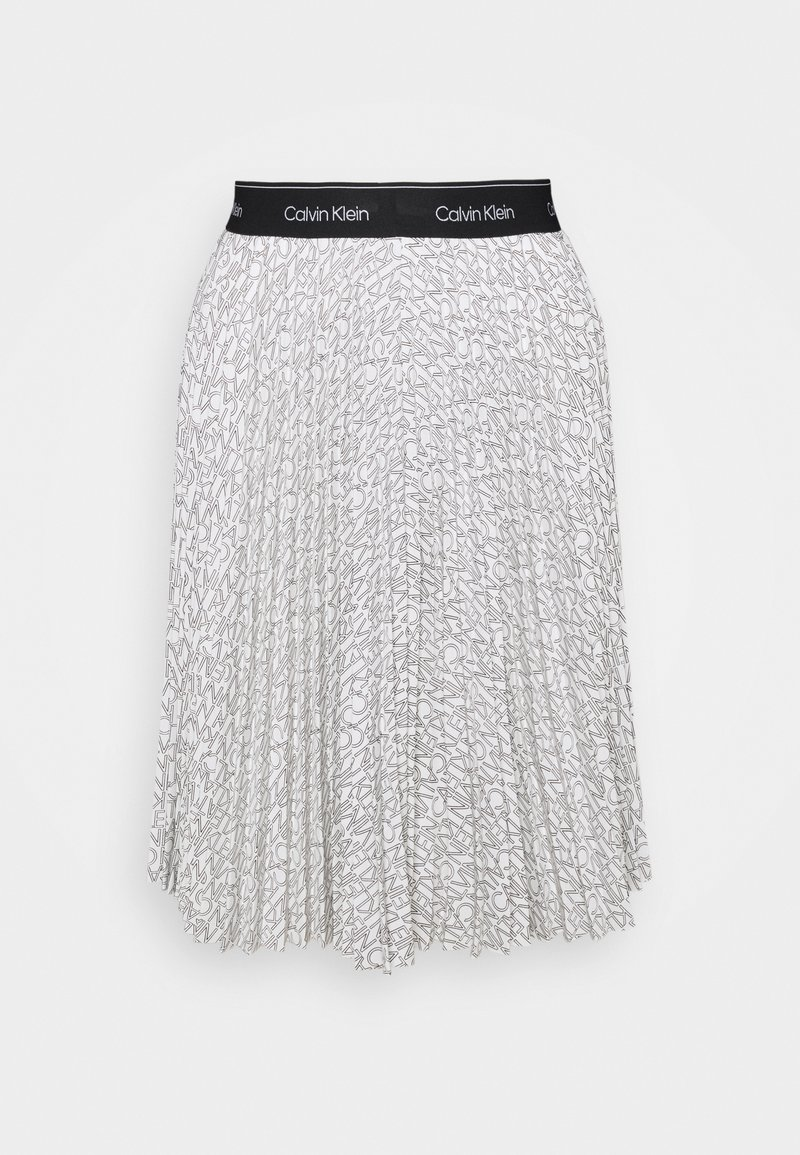 Calvin Klein - LOGO WAISTBAND PLEAT SKIRT - A-line skirt - monogram