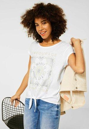 KNOTEN - Print T-shirt - weiß