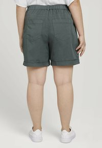 MY TRUE ME TOM TAILOR - Shorts - washed jasper green - 2