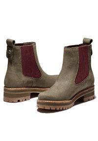 Timberland - COURMAYEUR VALLEY CHELSEA - Boots - olive nubuck w burg - 2