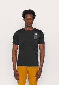 The North Face - GLACIER TEE - Camiseta estampada - tnf black - 0