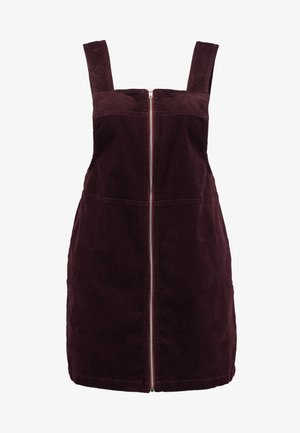 EXCLUSIVE PINAFORE DRESS - Day dress - deep red
