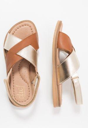 Sandals - gold/camel