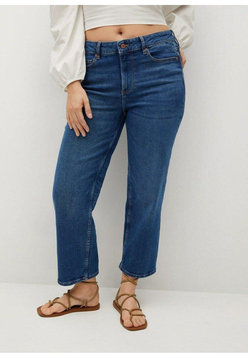 Violeta by Mango - ELIA - Straight leg jeans - middenblauw