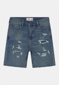 Abercrombie & Fitch - Shorts vaqueros - blue - 0