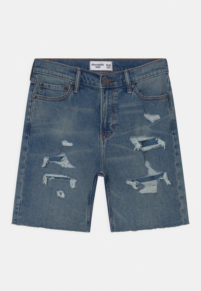 Abercrombie & Fitch - Shorts vaqueros - blue