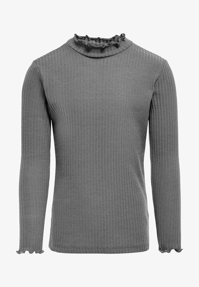 MIT LANGEN ÄRMELN EINFARBIGES - Långärmad tröja - medium grey melange