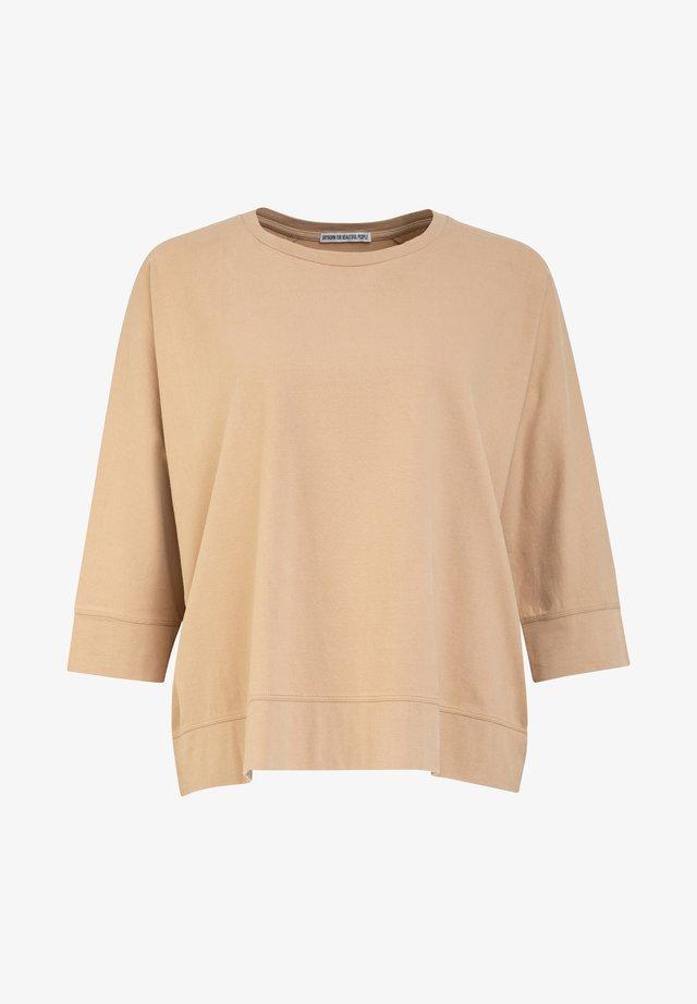 LENILIA - Long sleeved top - brown