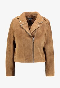 CAPSULE by Simply Be - BIKER JACKET - Keinonahkatakki - camel - 4