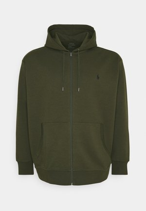 DOUBLE TECH - Zip-up hoodie - company olive