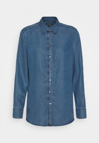 BLOUSE LONG SLEEVE - Button-down blouse - denim blue