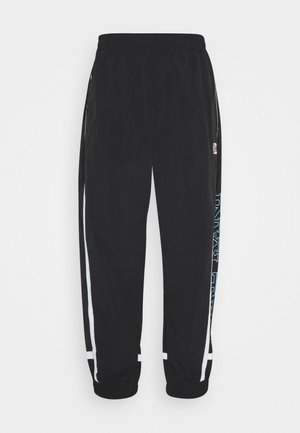 RETRO BLOCK TRACK PANTS - Tracksuit bottoms - black
