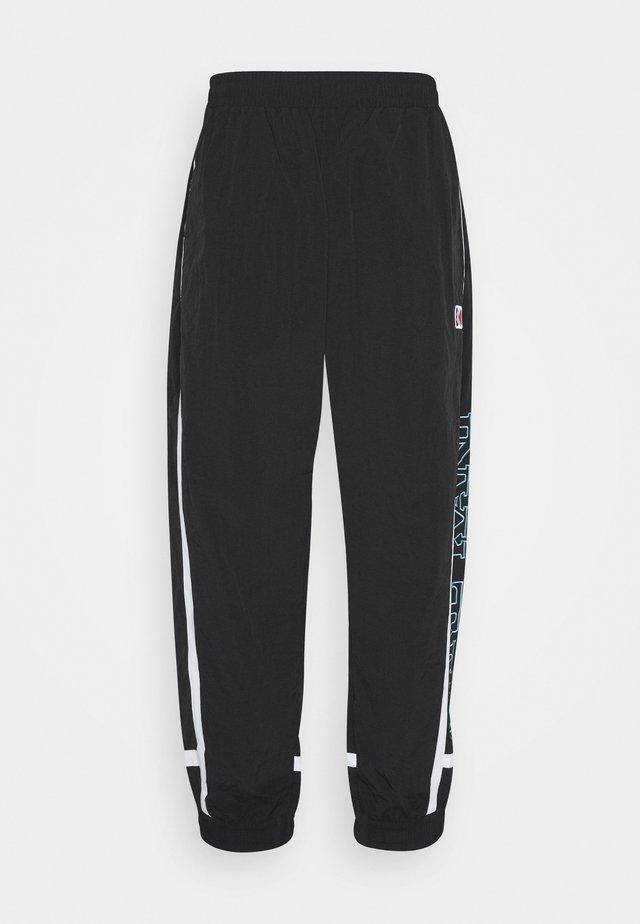 RETRO BLOCK TRACK PANTS - Pantaloni sportivi - black