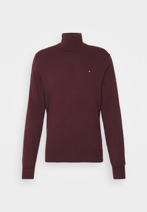 ROLL NECK - Jumper - deep burgundy heather