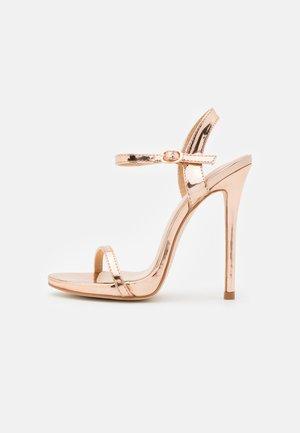 SPARRA - Sandaler med høye hæler - rose gold metallic