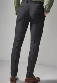 Next - STRETCH TONIC SUIT: TROUSERS-SLIM FIT - Pantaloni eleganti - black - 1