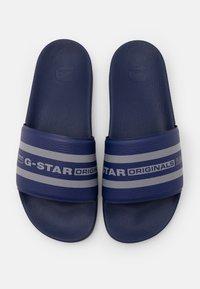 G-Star - CART SLIDE IV - Mules - imperial blue/slab grey - 3