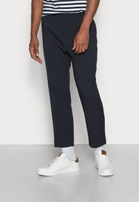 Weekday - MARD TROUSERS - Trousers - blue melange - 0