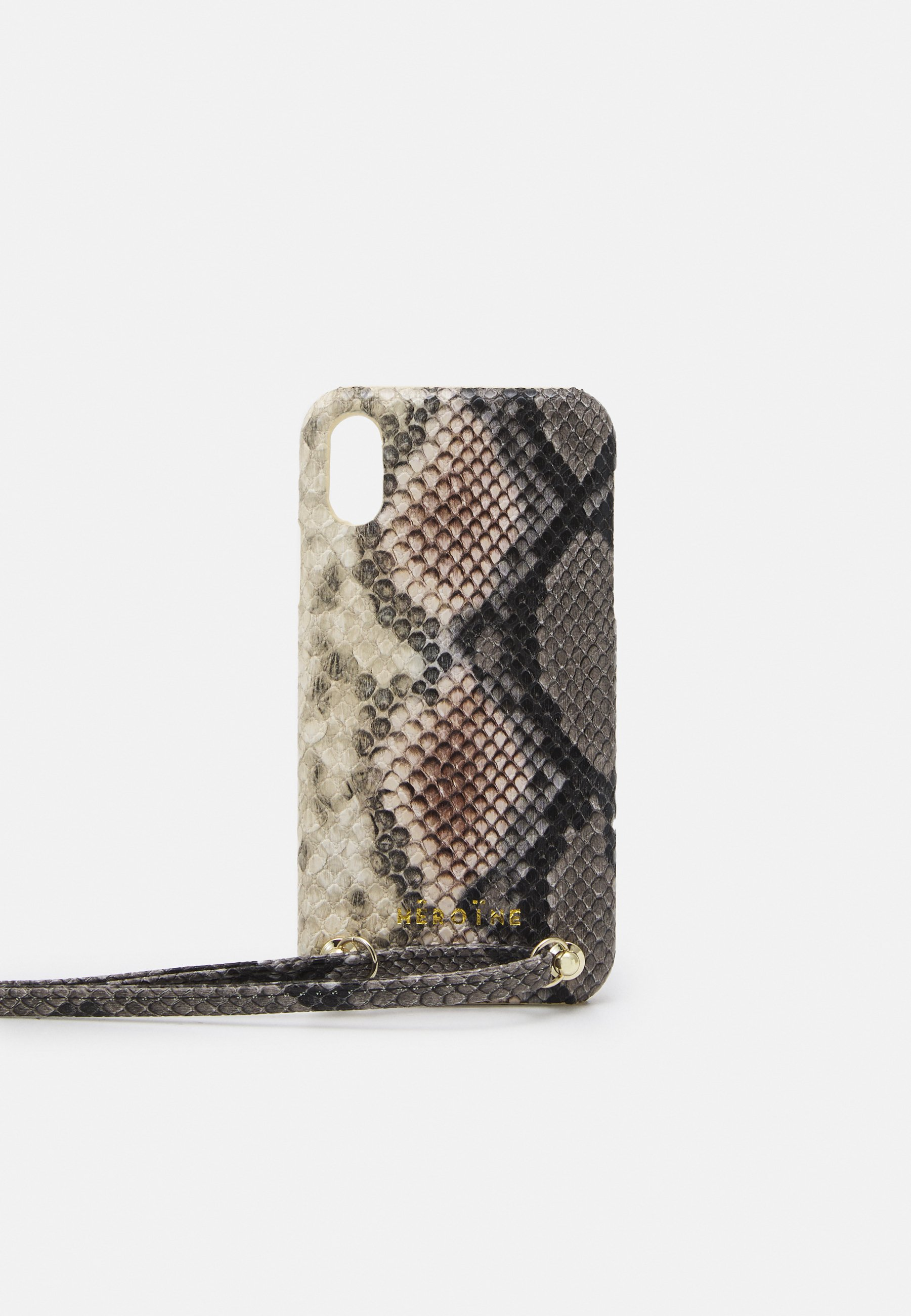 Femme YUNA IPHONE XR HANDYKETTE NECKLACE - Étui à portable - snake rose/grey