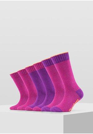 6 PACK - Socks - byzantium mix