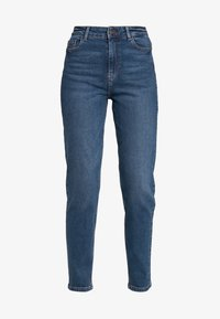 PCKESIA MOM - Relaxed fit jeans - dark blue denim