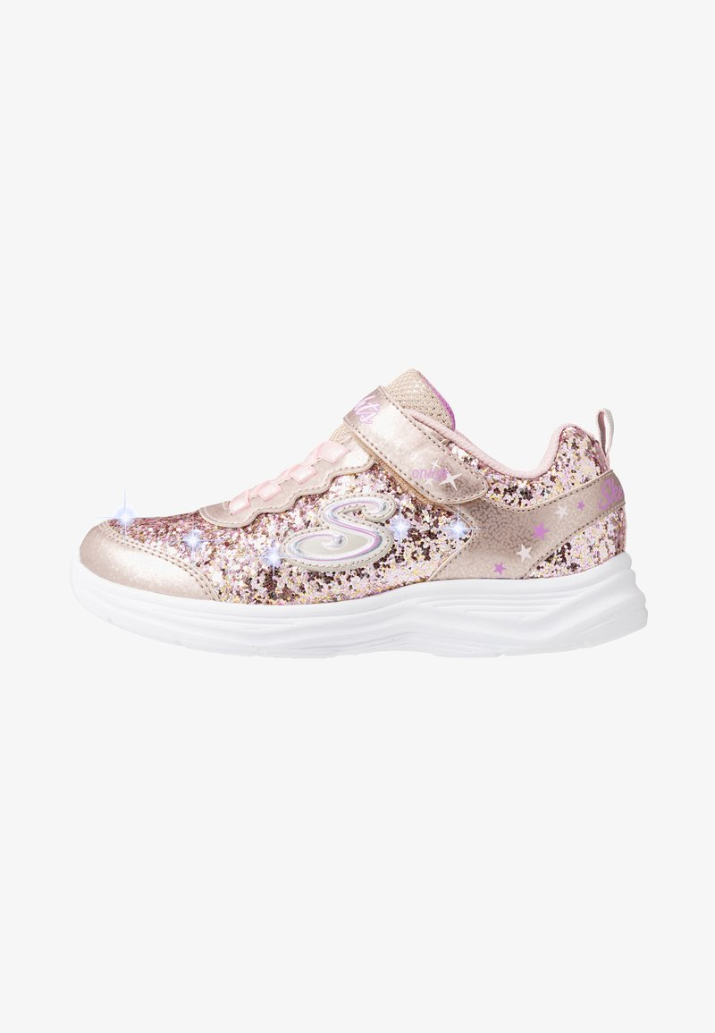Skechers - GLIMMER KICKS - Trainers - gold rock glitter/light pink