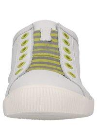 Softinos - Sneakers laag - white/yellow elastic - 6