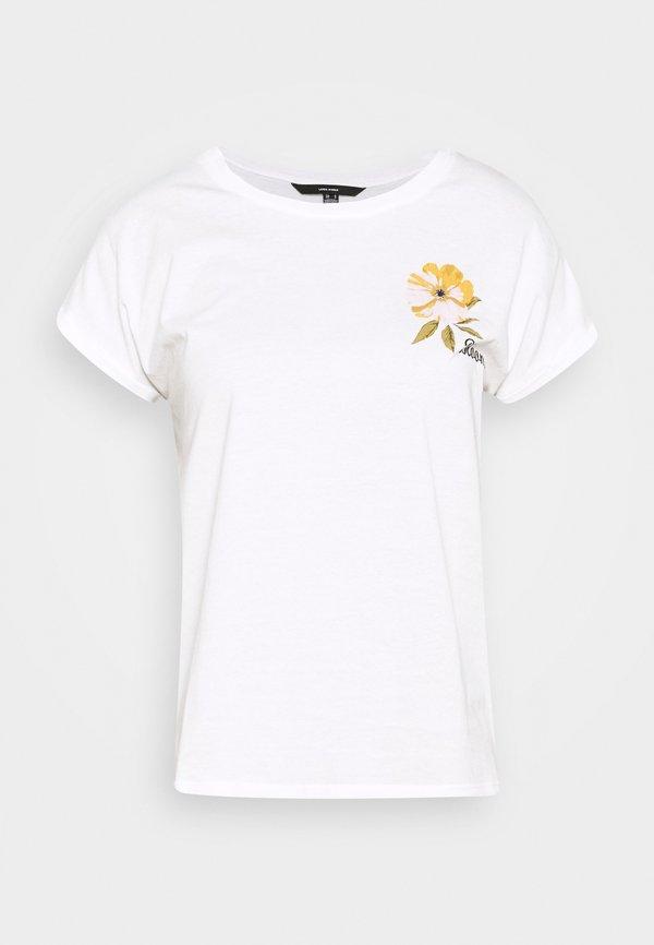 Vero Moda VMVENJAAVA WIDE BOX - T-shirt z nadrukiem - white Nadruk Odzież Damska FUNP ZN 4