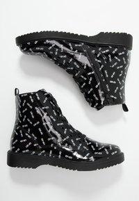 LIU JO - PAT BIKERS - Šněrovací kotníkové boty - black - 0