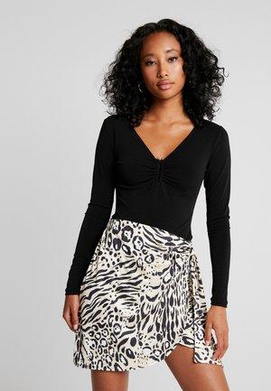 SELMA BAR BODYSUIT - Long sleeved top - black