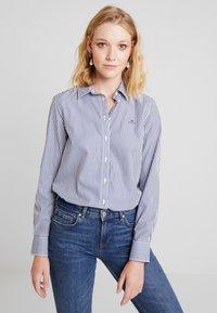 GANT - THE BROADCLOTH BANKER - Button-down blouse - indigo blue - 0
