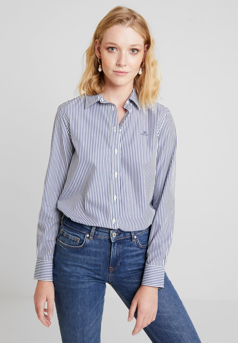 GANT - THE BROADCLOTH BANKER - Button-down blouse - indigo blue