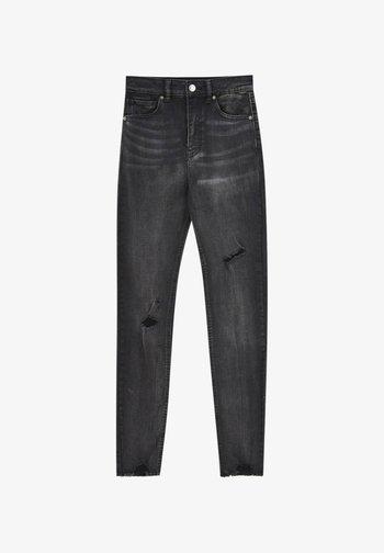 SKINNY HIGH WAIST - Jeans Skinny Fit - dark grey