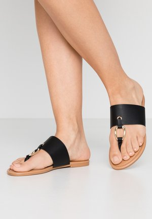 FANCY - T-bar sandals - black