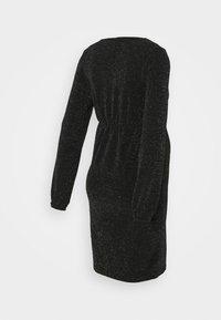 MAMALICIOUS - MLJENNI TESS DRESS  - Vestido ligero - black/silver glitter - 1
