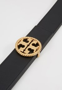 Tory Burch - TWISTED LOGO BELT - Riem - black - 4