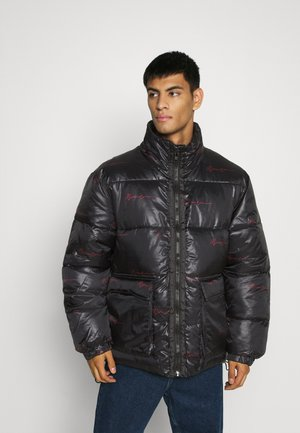 SIGNATURE REPEAT PUFFER JACKET - Giacca invernale - black