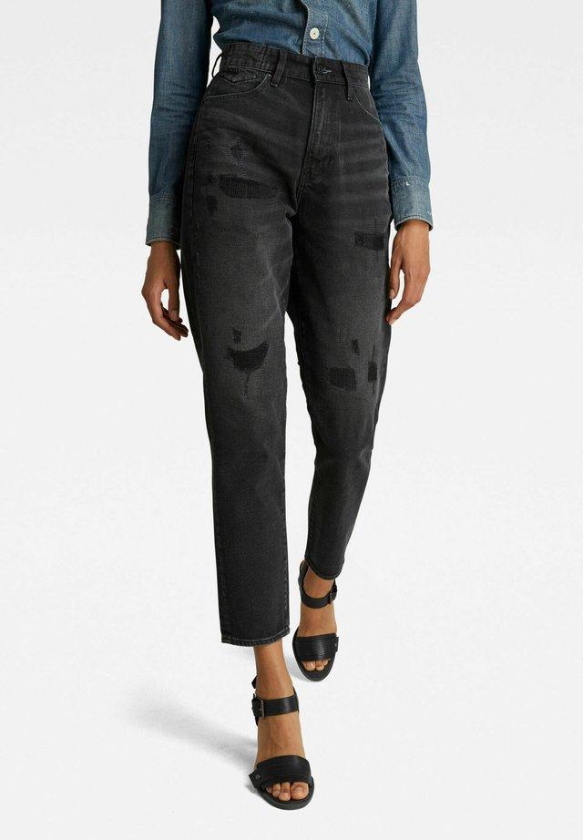 JANEH  - Jeans baggy - worn in tar black restored
