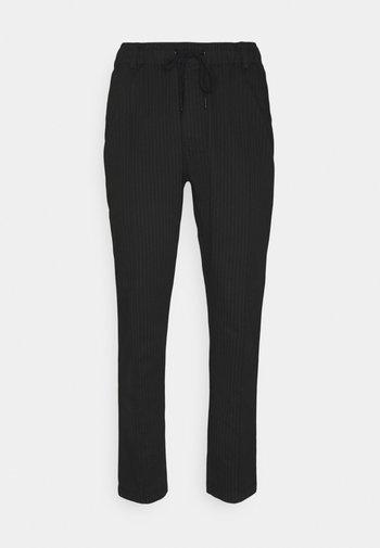 PINSTRIPE TROUSER - Trousers - black