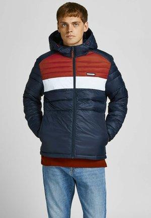 JJEACE PUFFER - Winter jacket - dunkelblau