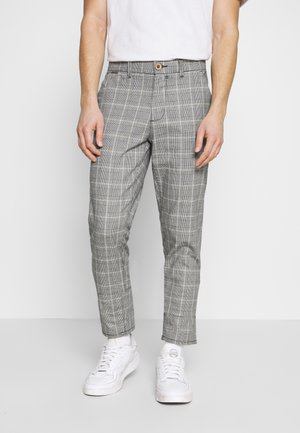 CHECK PANT - Trousers - grey