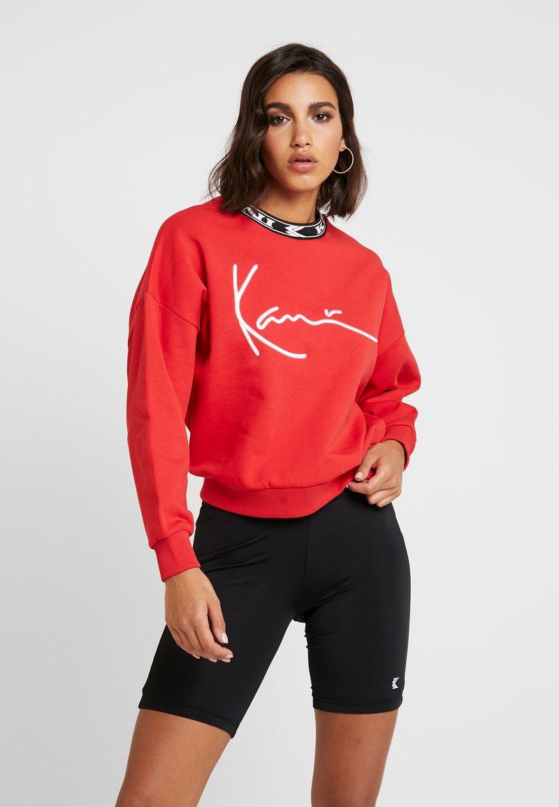 Karl Kani - SIGNATURE CREW - Sweatshirt - red/white/black