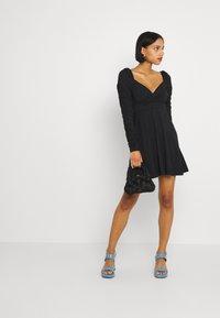 NA-KD - PAMELA REIF DRAPED  - Jersey dress - black - 1