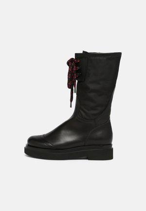IMPROVER - Šněrovací vysoké boty - schwarz