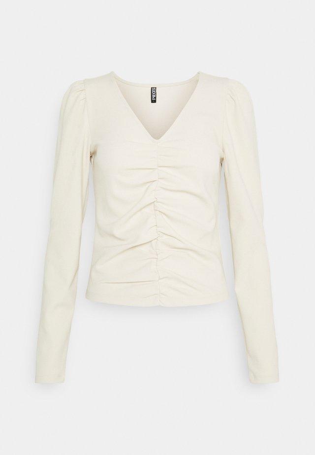 PCDUBAINE TOP - T-shirt à manches longues - beige