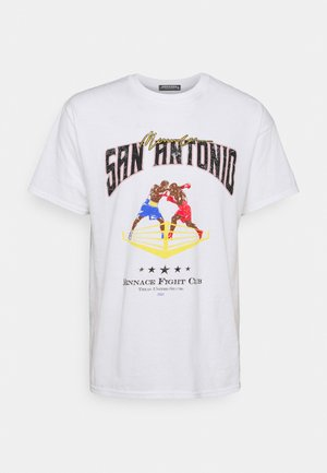 SAN ANTONIO FIGHT CLUB - T-shirt imprimé - white